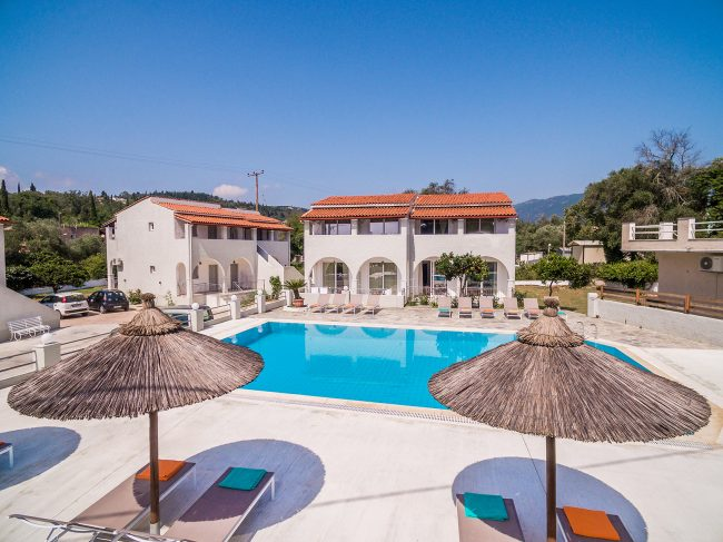 corfu family apartments ipsos dassia